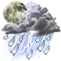 Weather Icon: Scattered Thunderstorms